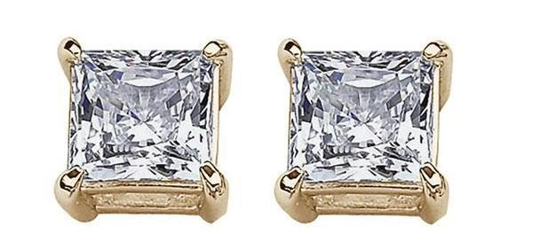 Princess Cut Earrings (Secret Gift)