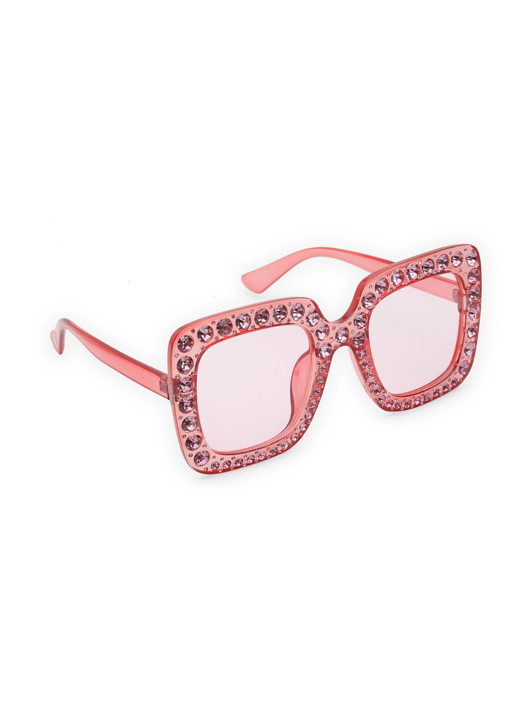 Avant-Garde Paris Women Oversized Square Diamond Sunglasses