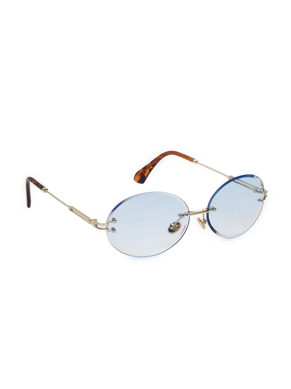 Avant-Garde Paris Rimless Eyeglasses Round Ocean Sunglasses for Women