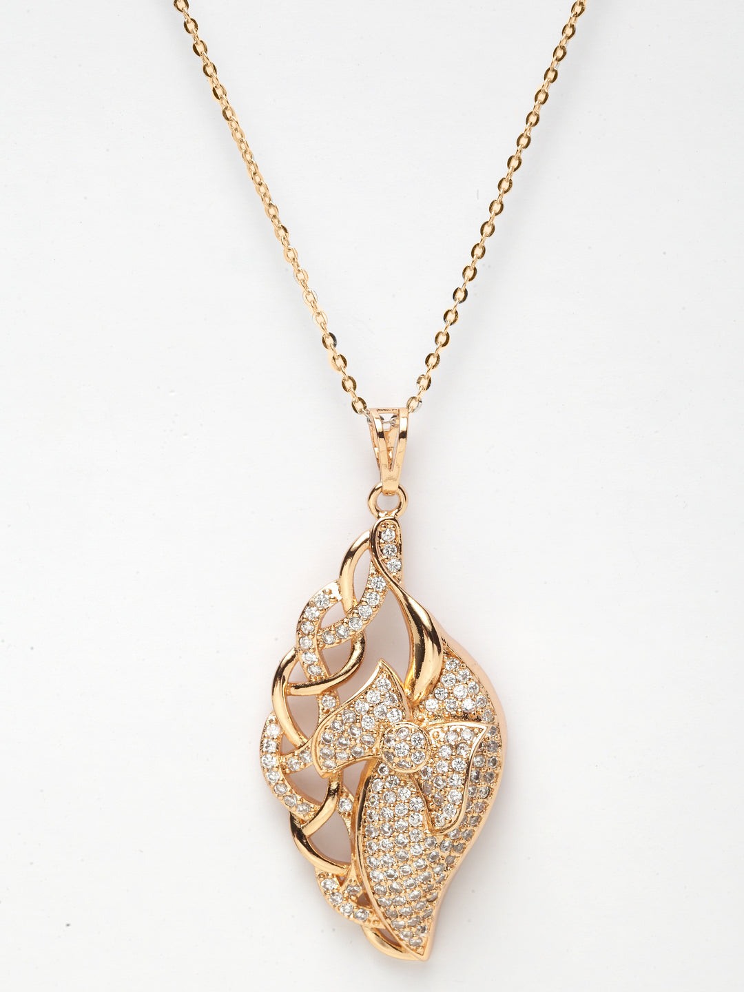 Avant-Garde Paris Luxury Vintage Cubic zirconia Gold Plated Pendant