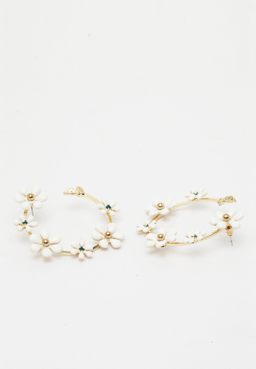 Avant-Garde Paris Plush Gold-Plated Flower Hoops