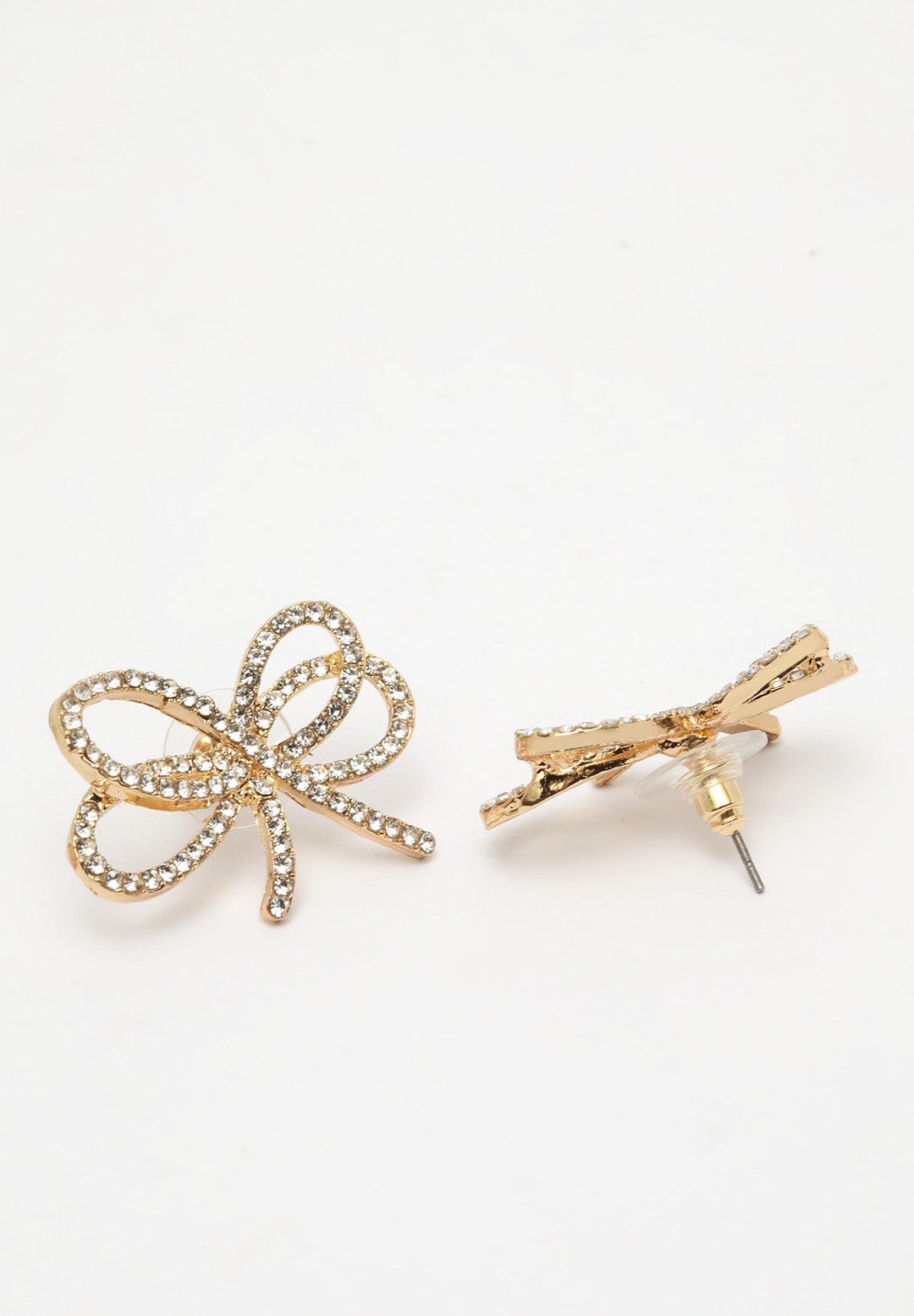 Avant-Garde Paris Simple And Chique Bow Studs