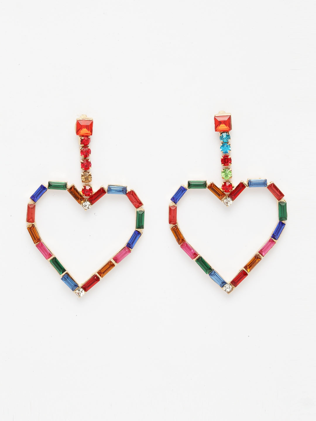 Avant-Garde Paris Heart Shape Drop Earrings
