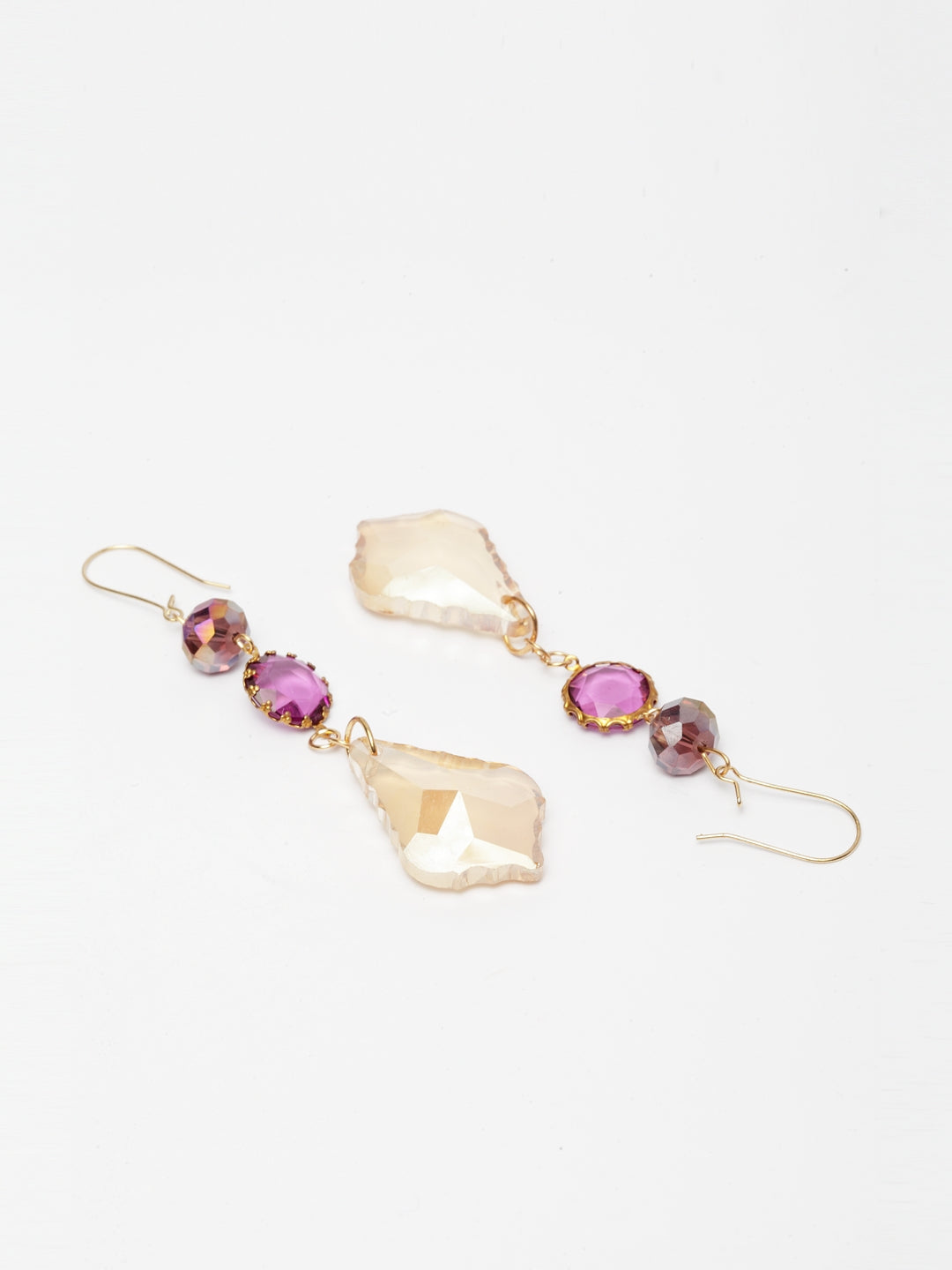 Avant-Garde Paris Bling Crystal Dew Drop Earrings