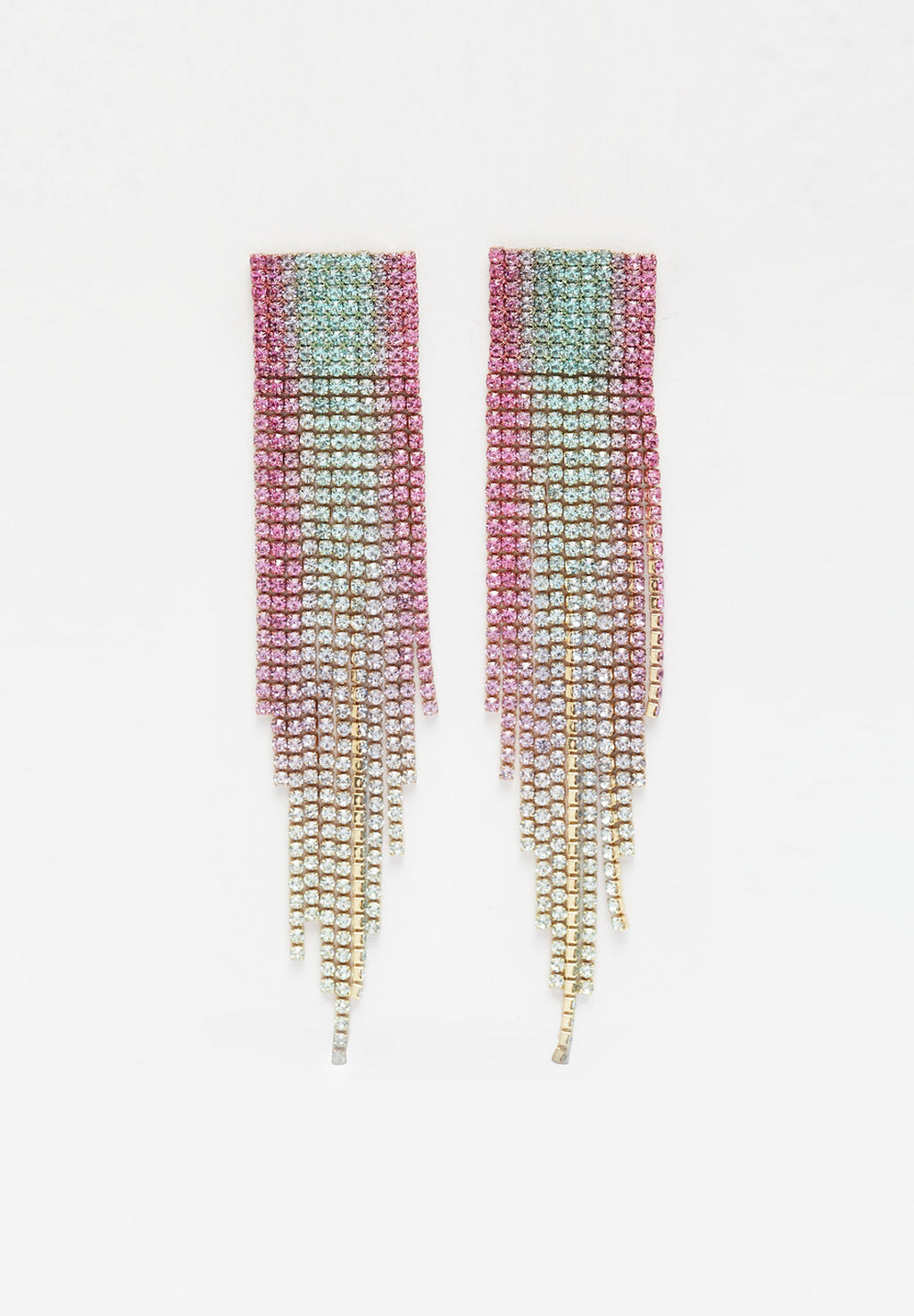 Avant-Garde Paris Bling Dangling Earrings With Crystals