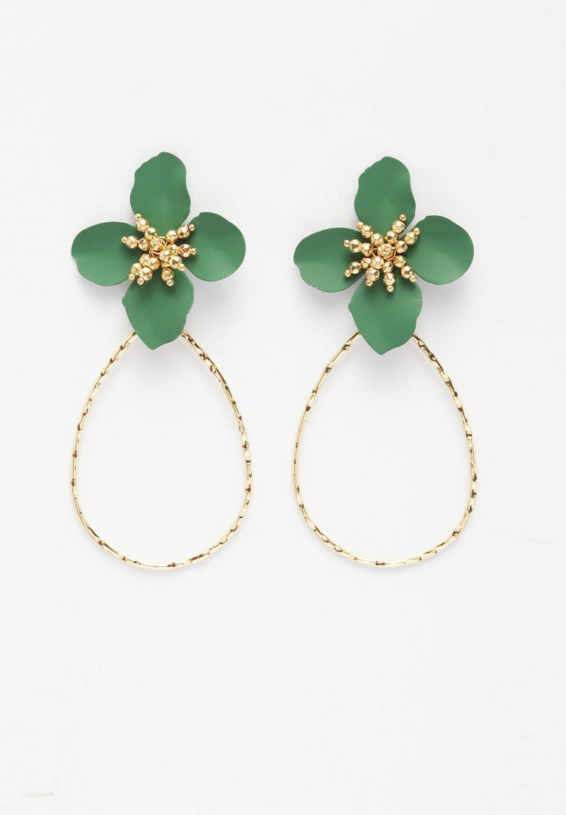 Avant-Garde Paris Plush Gold-Plated Flower Earrings