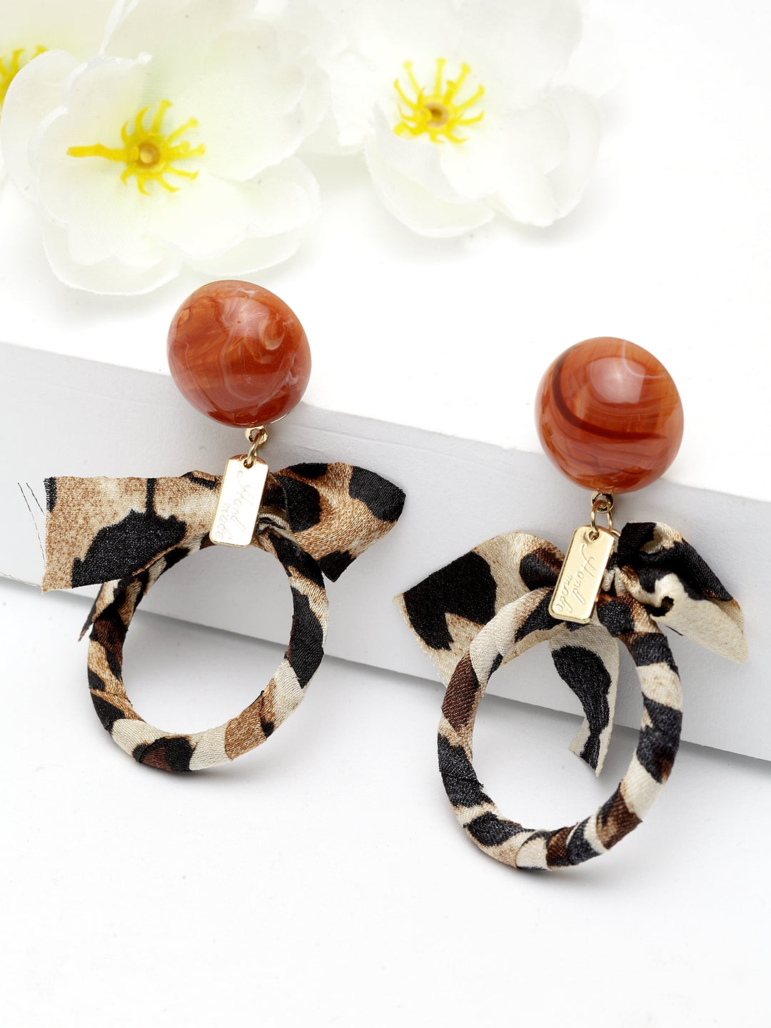 Avant-Garde Paris Quirky Bow-Tied Stone Earring