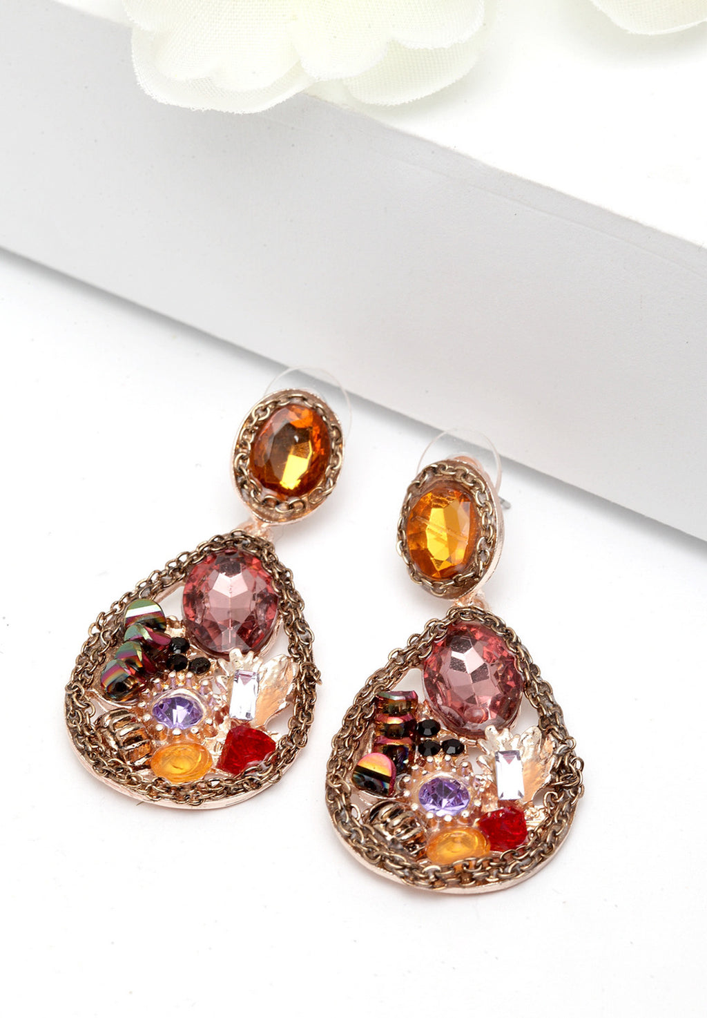 Avant-Garde Paris Luxe Multicolored Crystal Studs