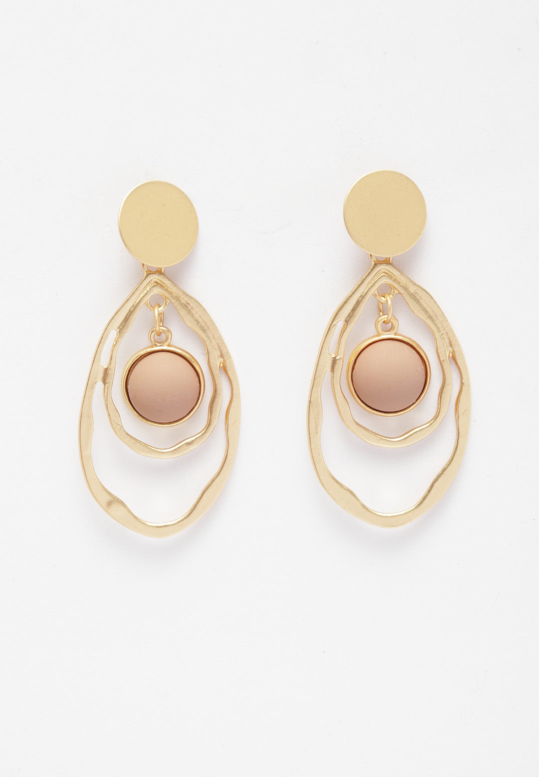 Avant-Garde Paris Sleek Gold-Plated Earrings