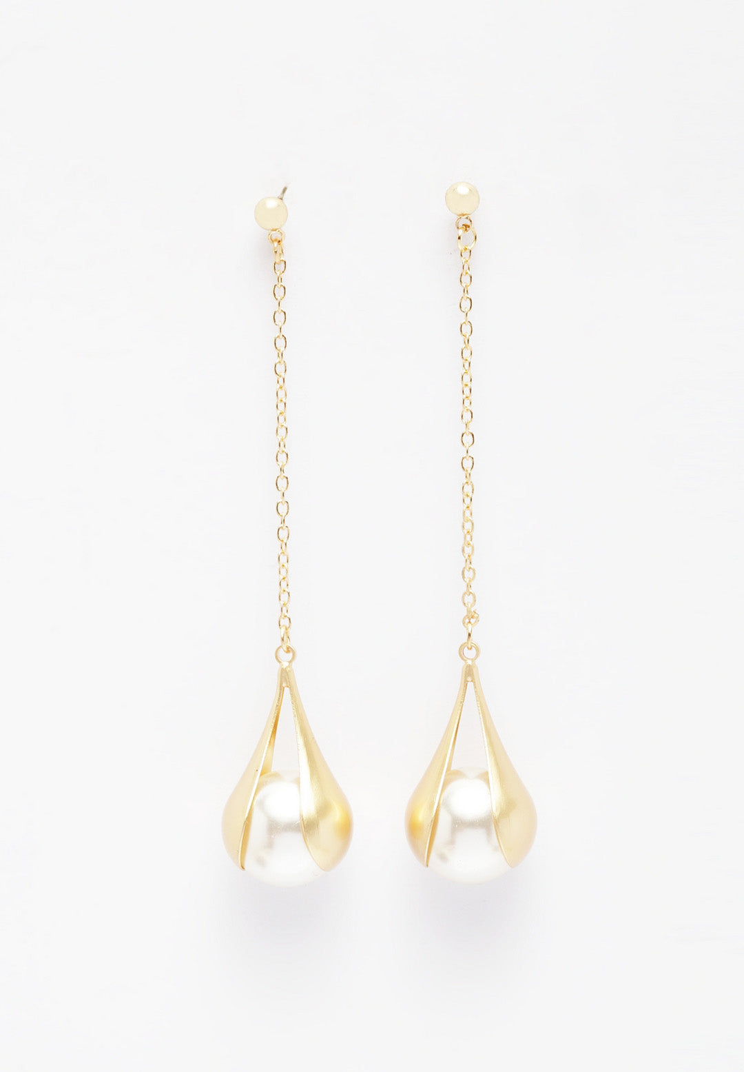 Avant-Garde Paris Gold-Plated Drop Earrings With Pearls
