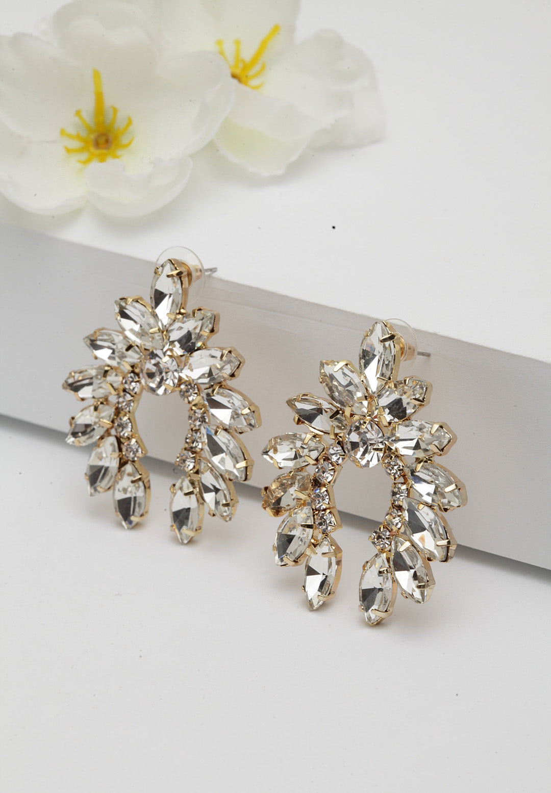 Avant-Garde Paris Plush Crystal Earrings