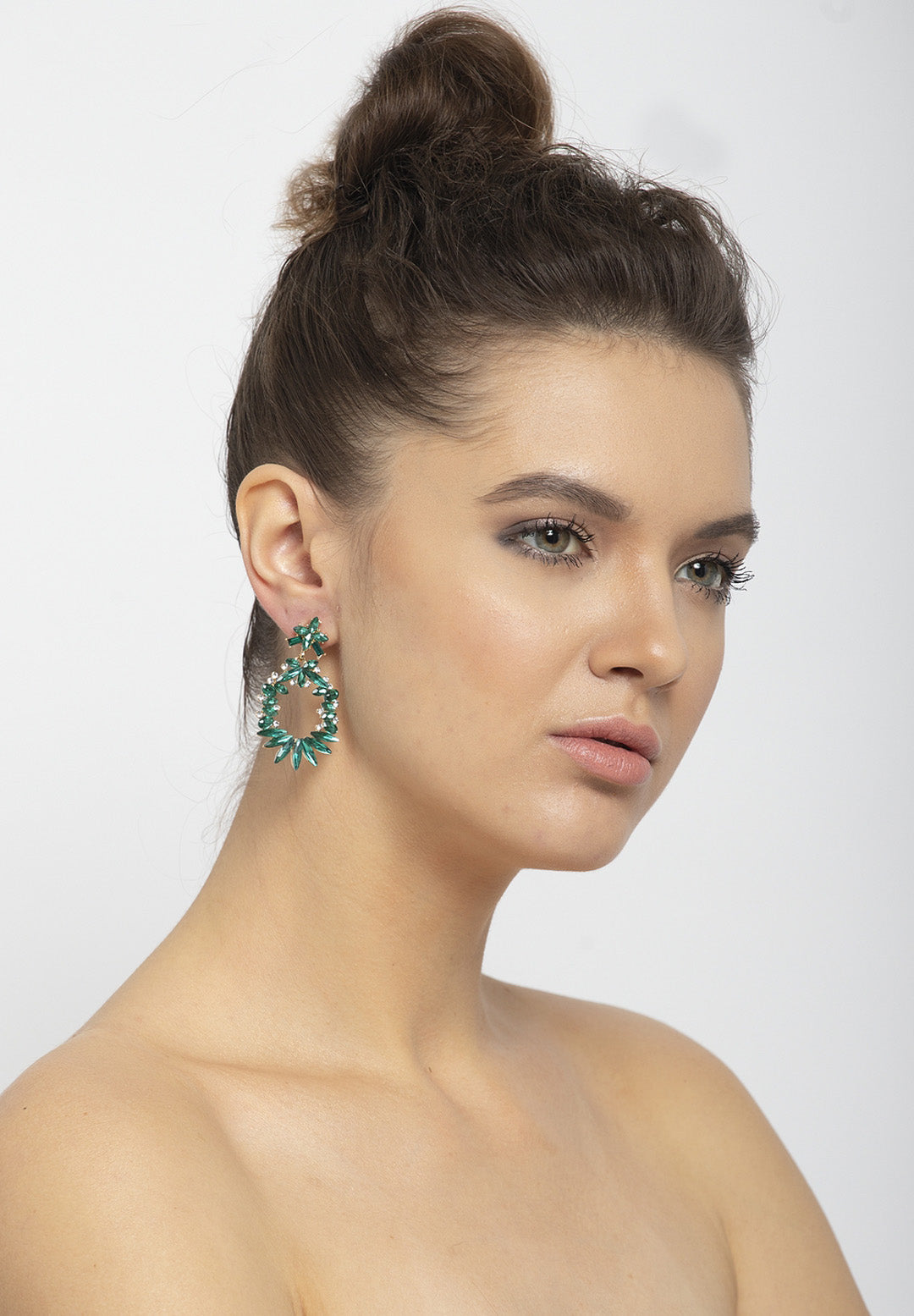 Avant-Garde Paris Elegant And Quirky Drop Crystal Earrings