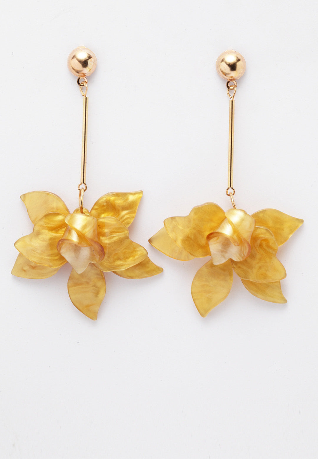 Avant-Garde Paris Resin Flowers Drop Earrings