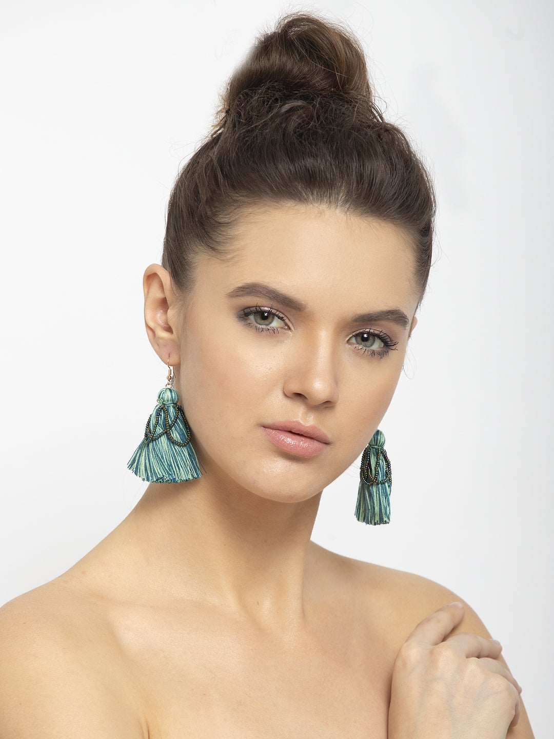 Avant-Garde Paris Bohemian Beaded Tassel Earrings