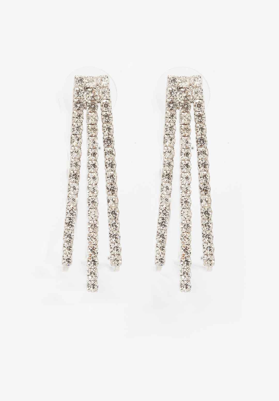 Avant-Garde Paris Sleek Gold-Plated Crystal Hoops