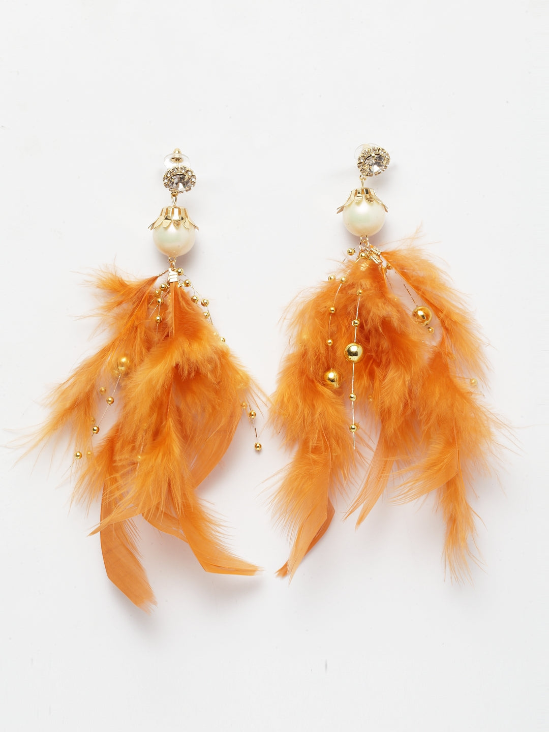 Avant-Garde Paris Quirky Feather And Crystal Earrings