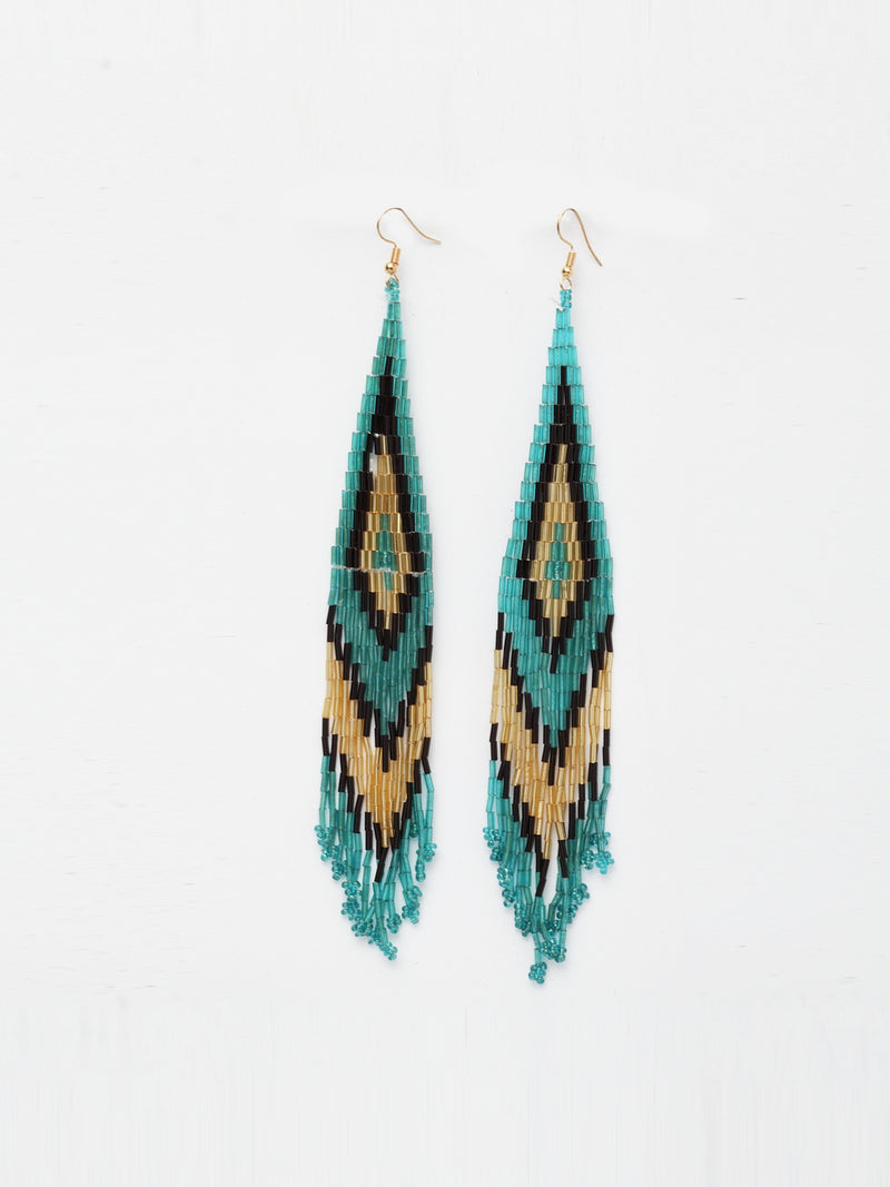 Avant-Garde Paris Beaded Tassel Earrings