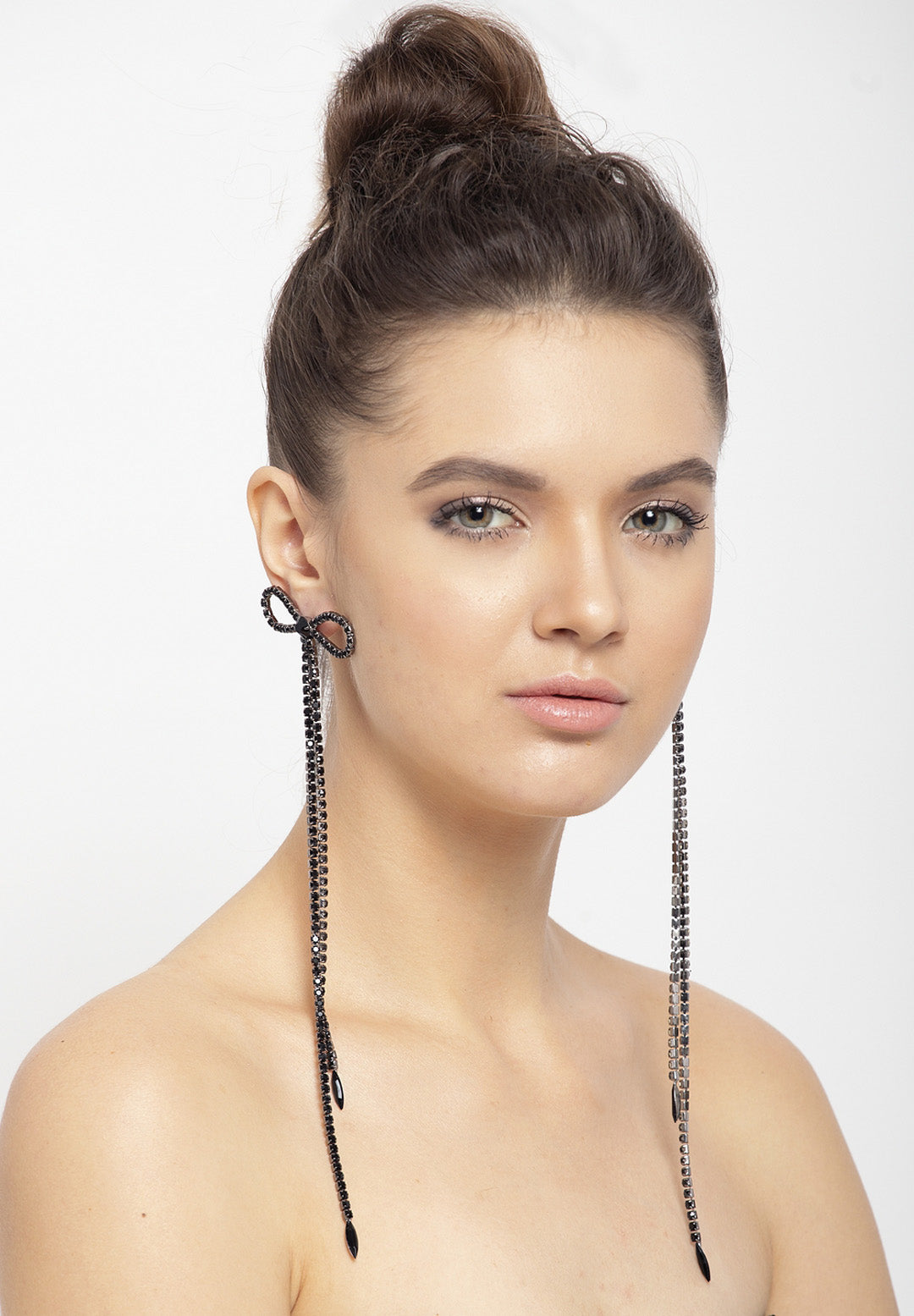Avant-Garde Paris Contemporary Crystal Dangling Earrings