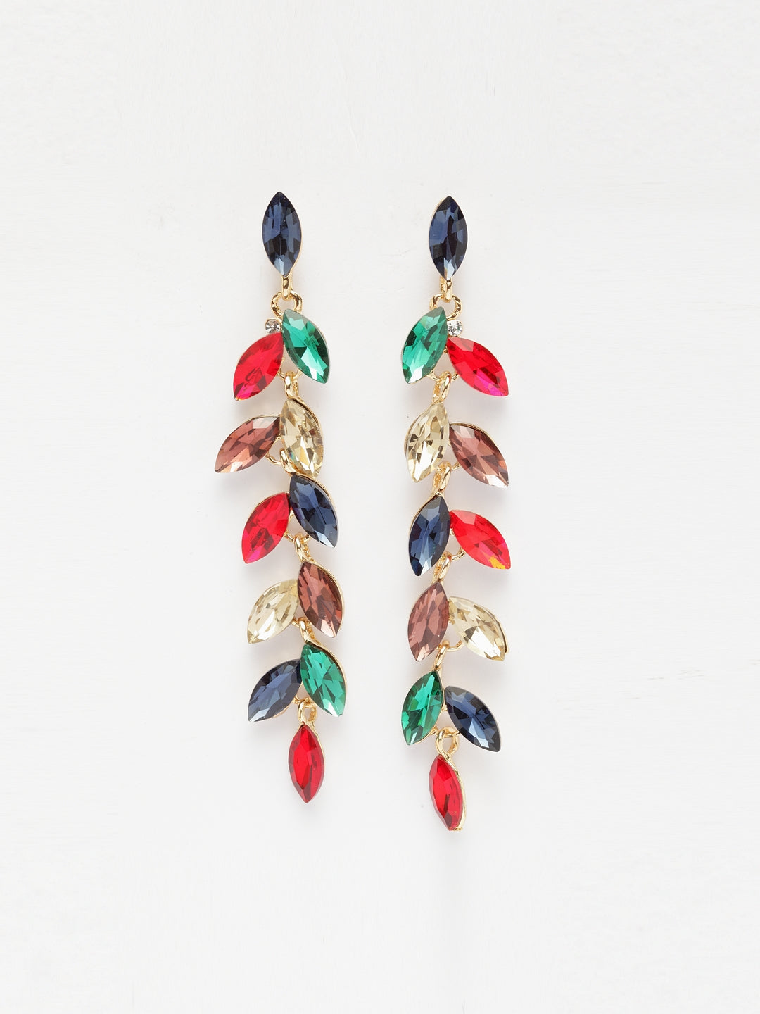 Avant-Garde Paris Elegant Crystal Drop Earrings