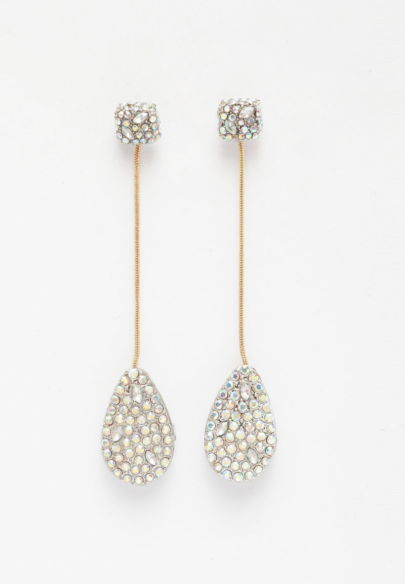 Avant-Garde Paris Multicolored Crystal Drop Earrings