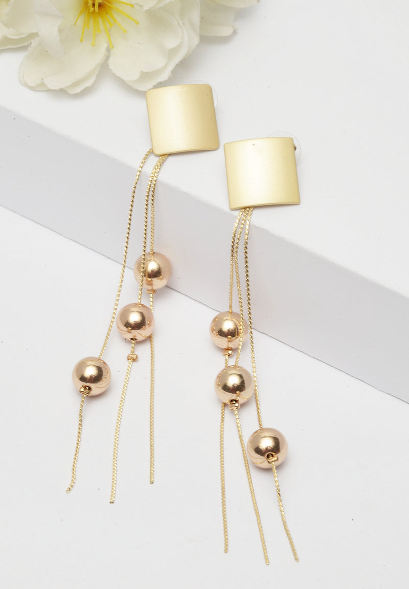 Avant-Garde Paris Contemporary Gold-Plated Drop Earrings
