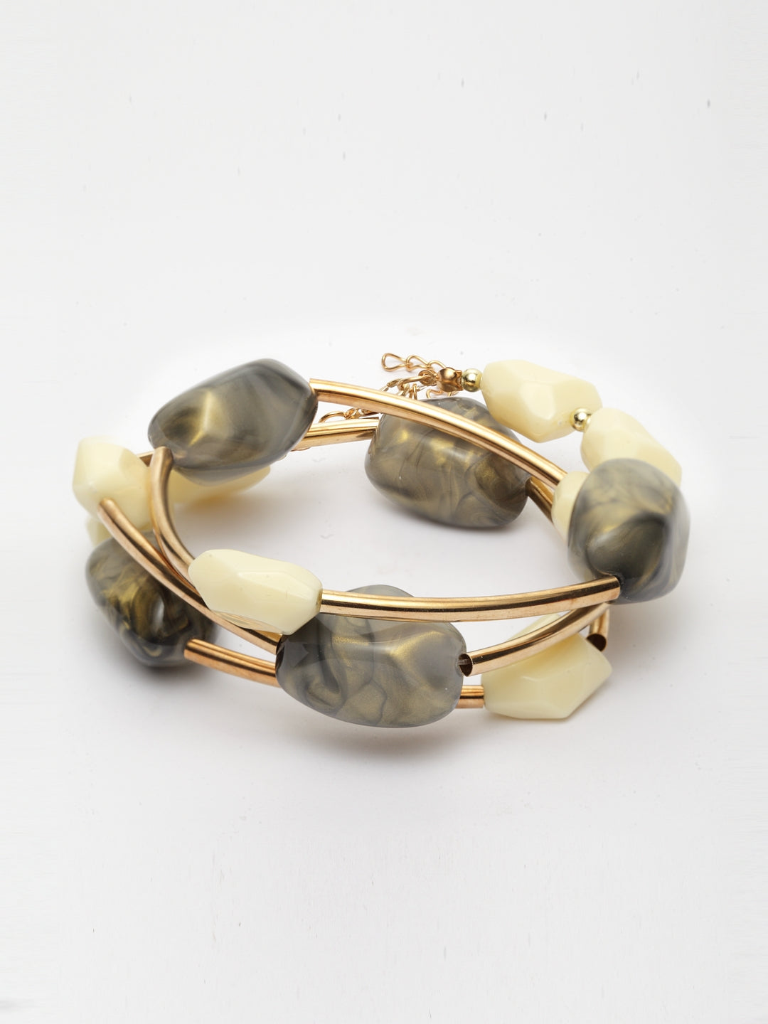 Avant-Garde Paris Three Layered Self Styling Stone Bracelets