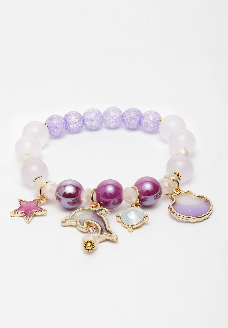 Avant-Garde Paris Colourful Pearl Bracelets With Charms