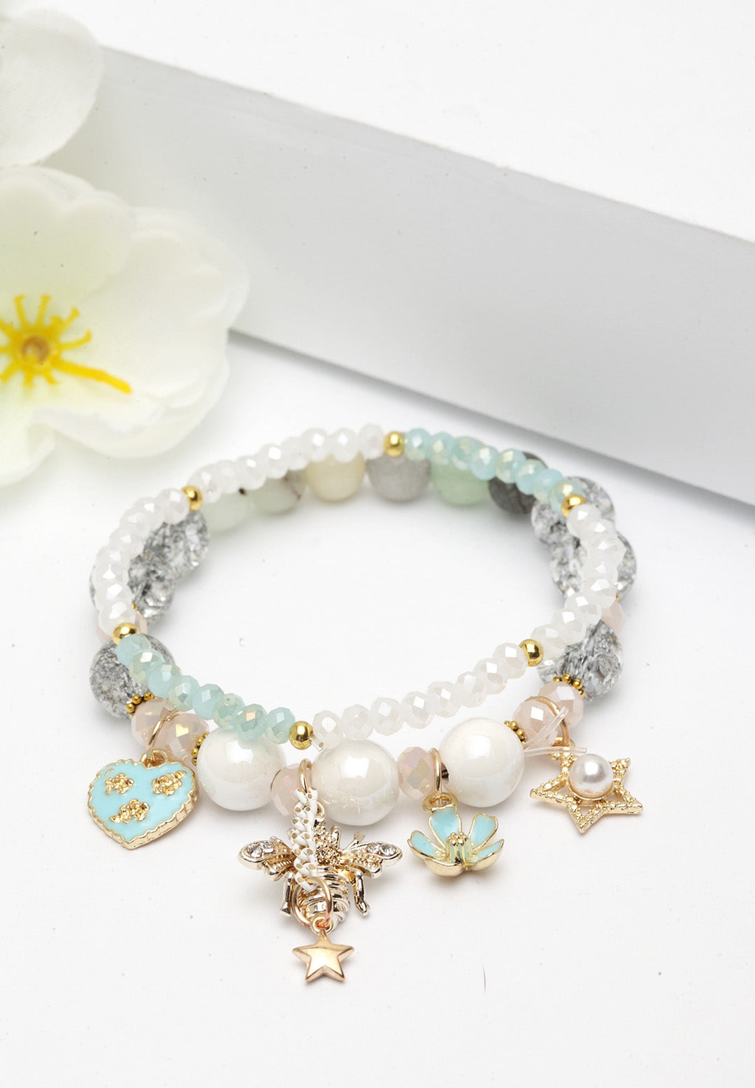 Avant-Garde Paris Double String Boho Bracelets With Pretty Charms