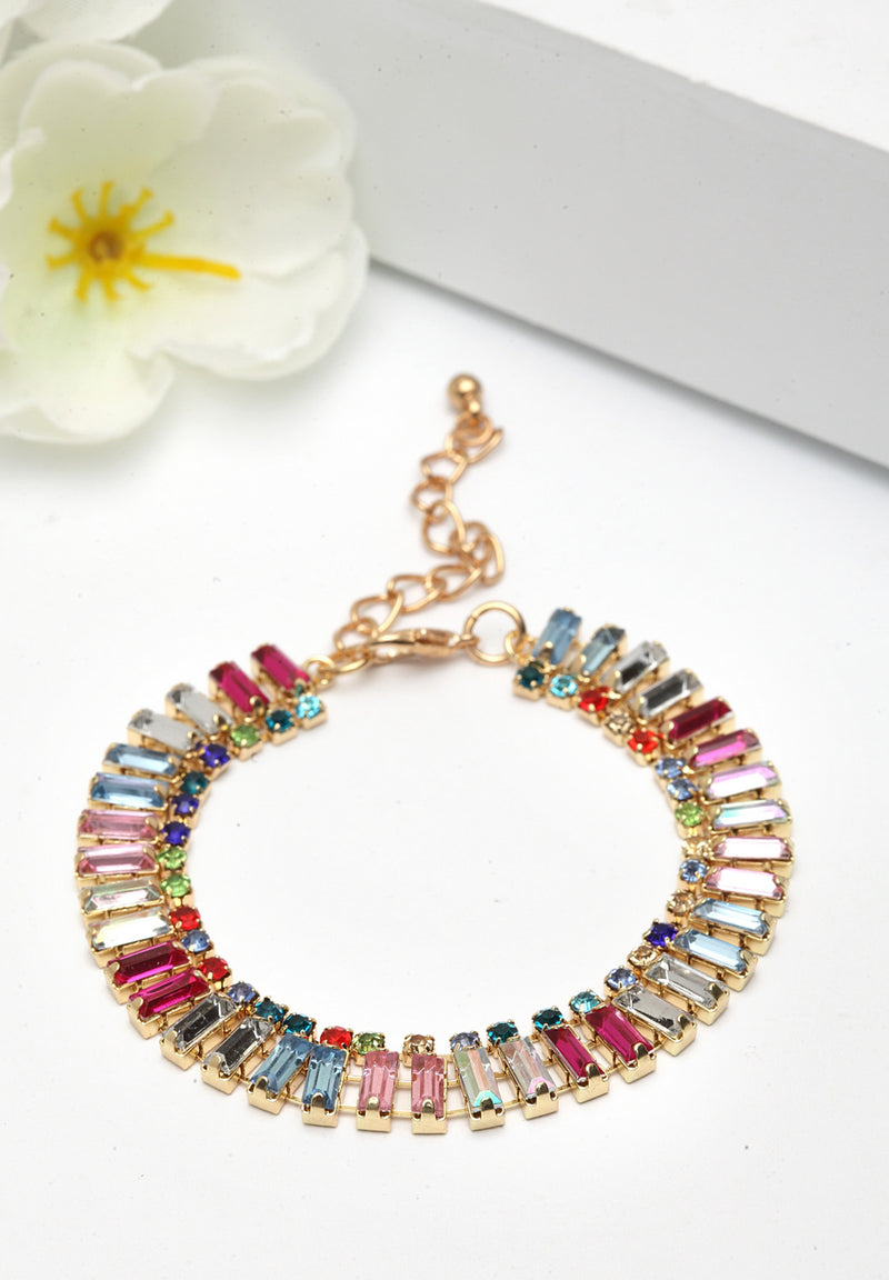 Avant-Garde Paris Multicolored Crystal Bracelet