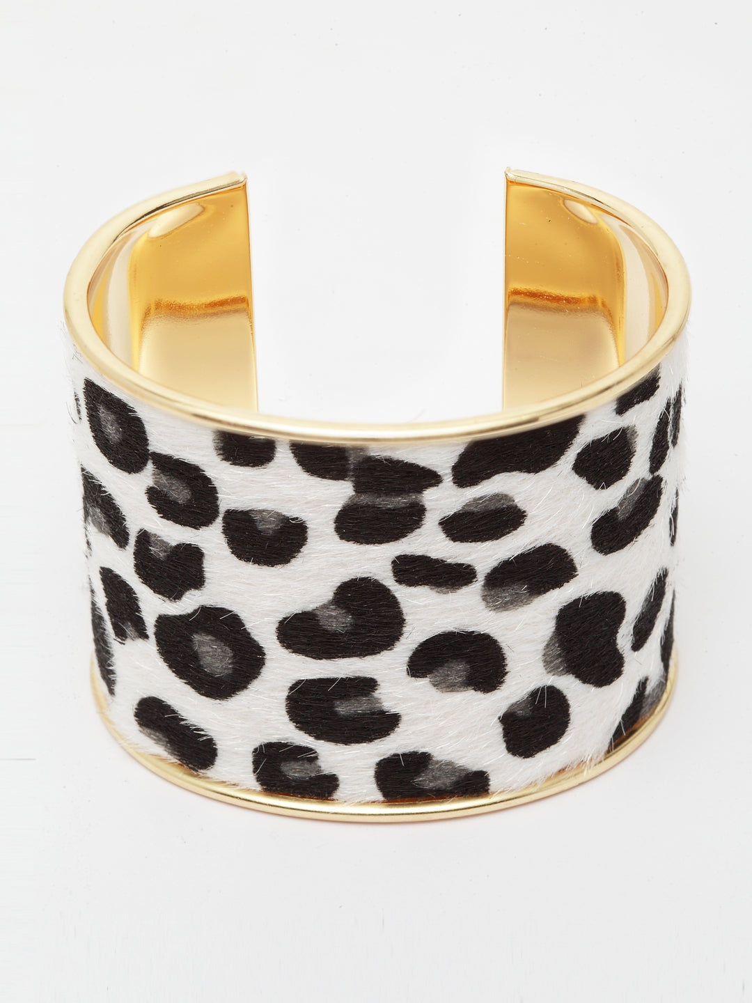 Avant-Garde Paris Luxury Leopard Print Open Adjustable Bangle