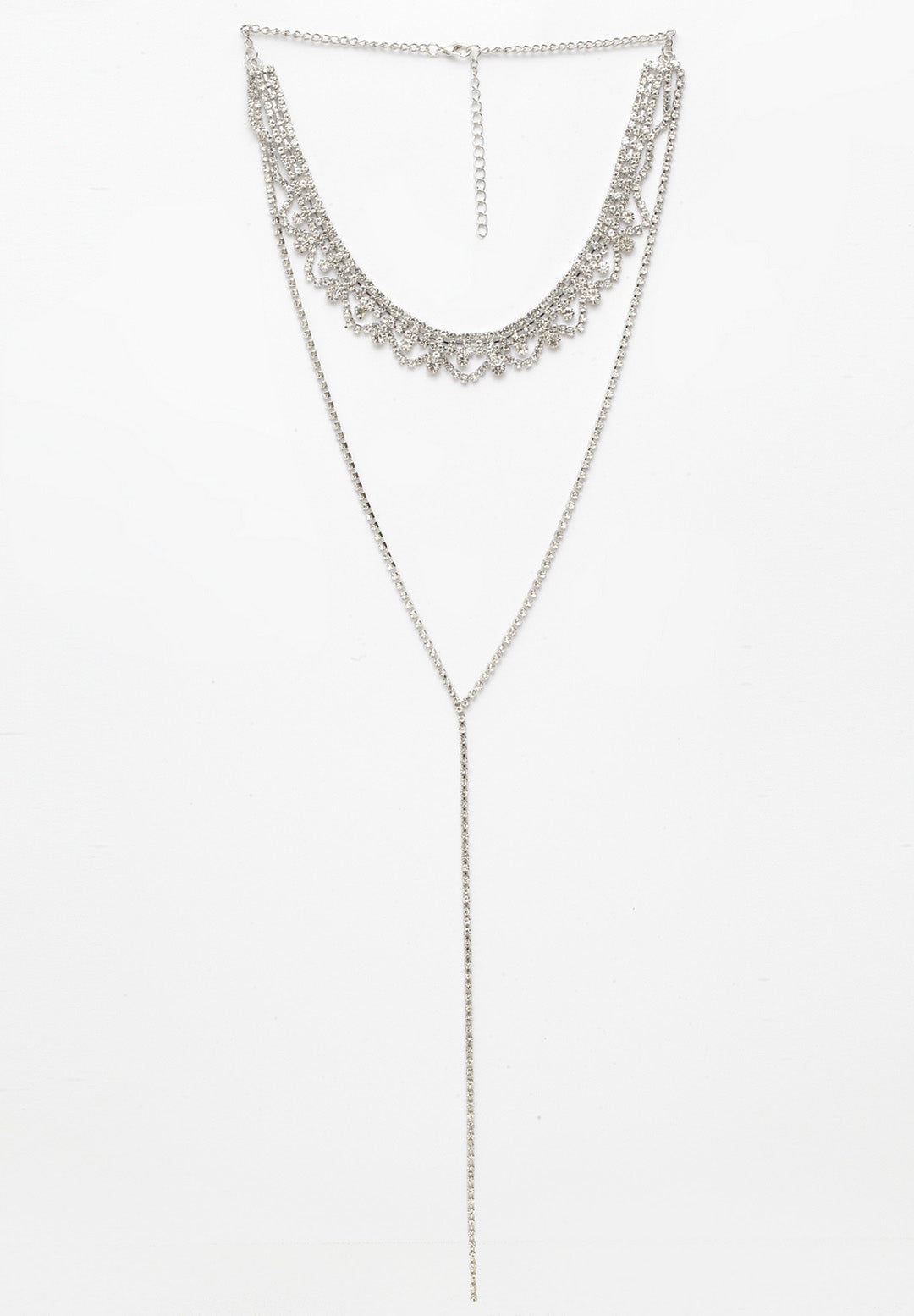 Avant-Garde Paris Contemporary Crystal Bling Neck Jewellery