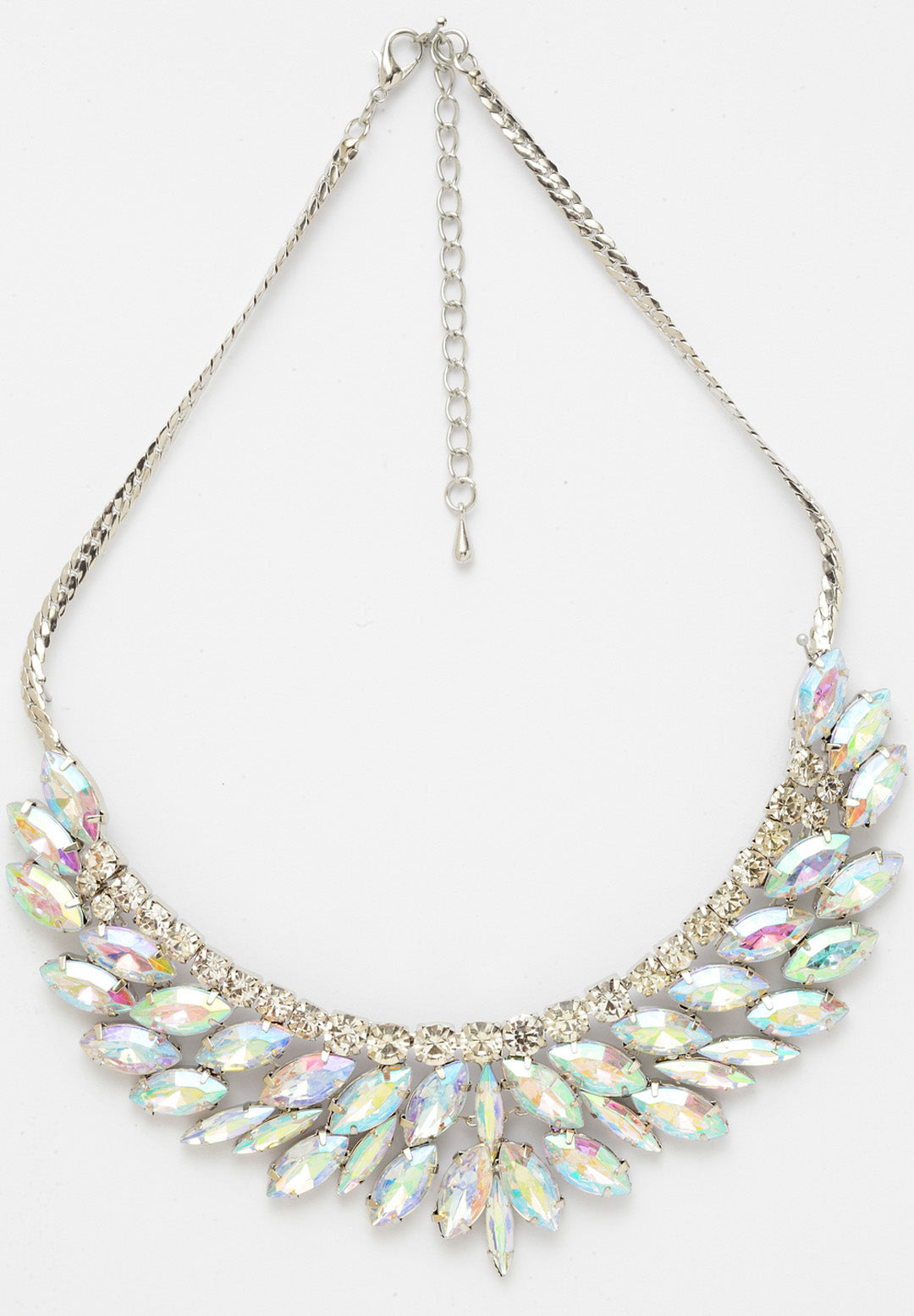 Avant-Garde Paris Elegant Multicolored Crystal Necklace
