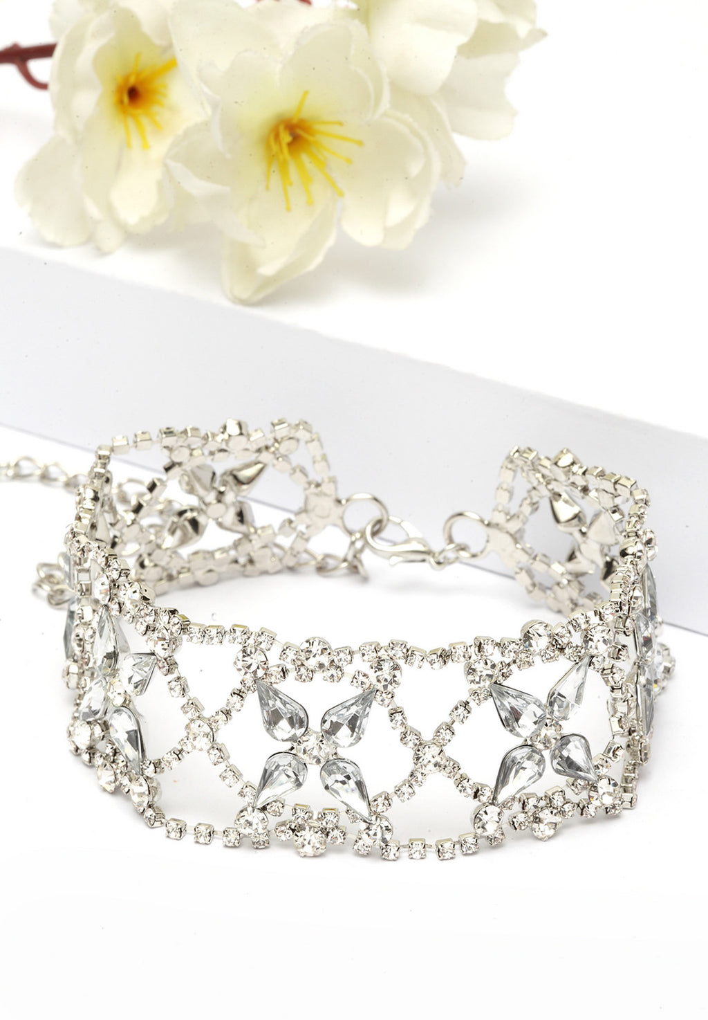 Avant-Garde Paris Contemporary Crystal Bling Choker