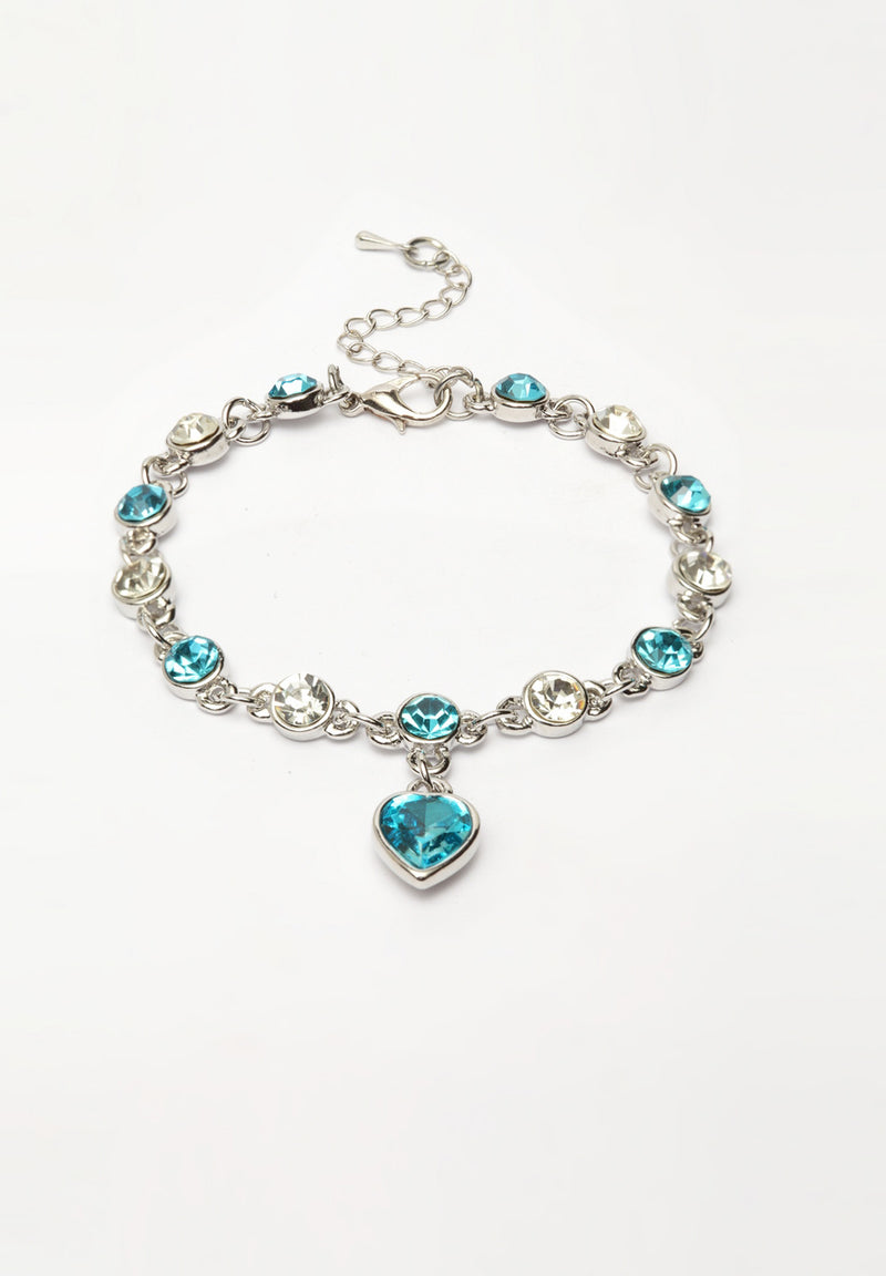 Avant-Garde Paris Luxury Charm Crystal Tennis Bracelet