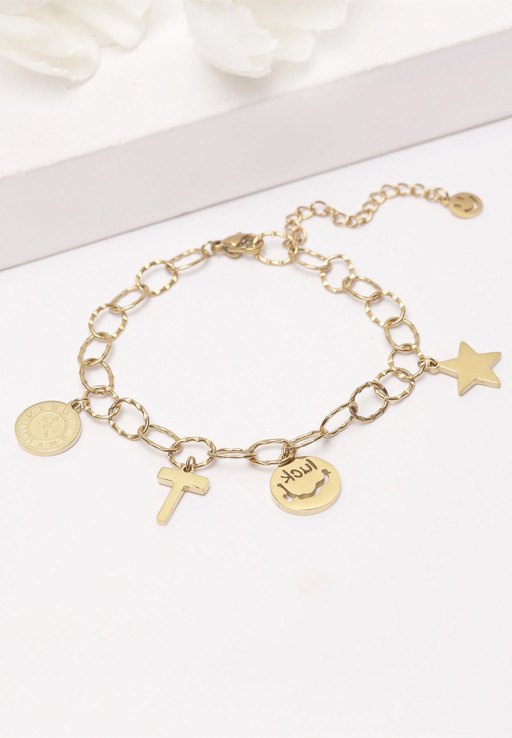 Avant-Garde Paris Gold Charms Bracelet