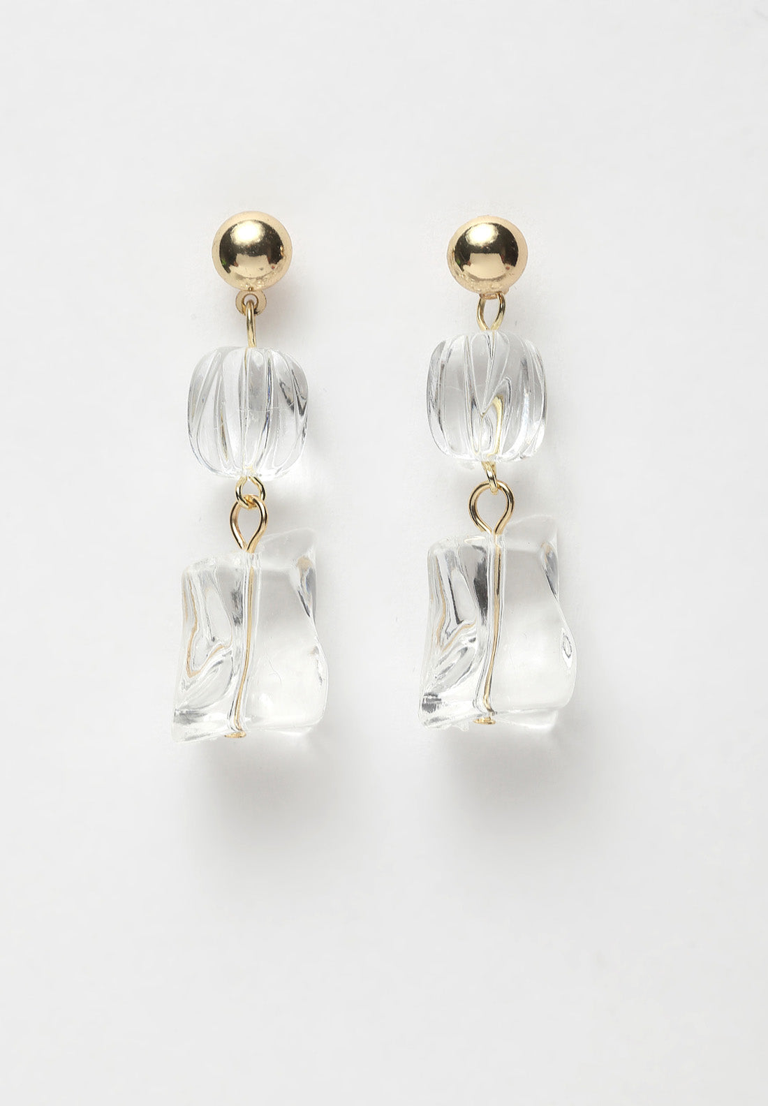 Avant-Garde Paris Transparent Abstract Earrings