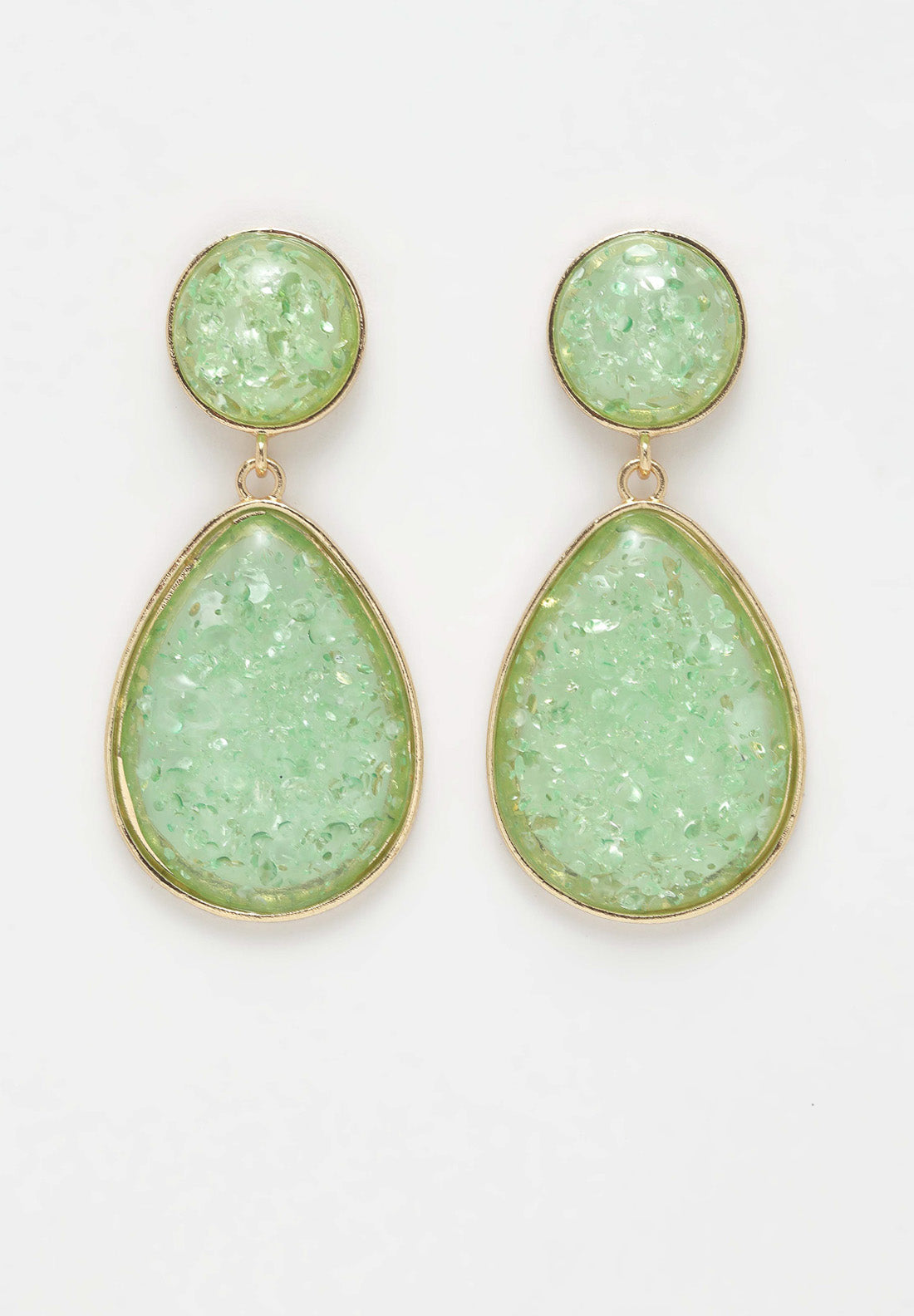 Avant-Garde Paris Green Stone Earrings