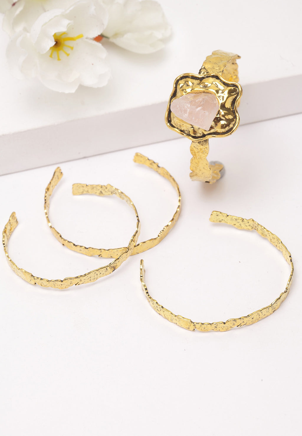 Avant-Garde Paris Metallic Gold Multi-layer Bracelet
