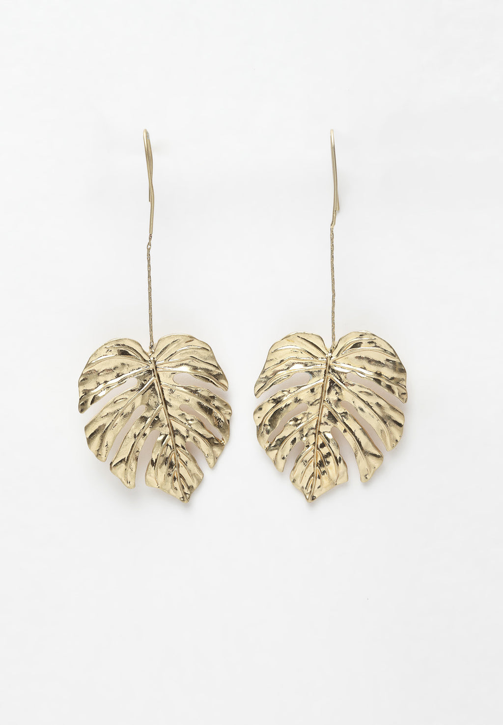 Avant-Garde Paris Gold Leaf Hanging Earrings