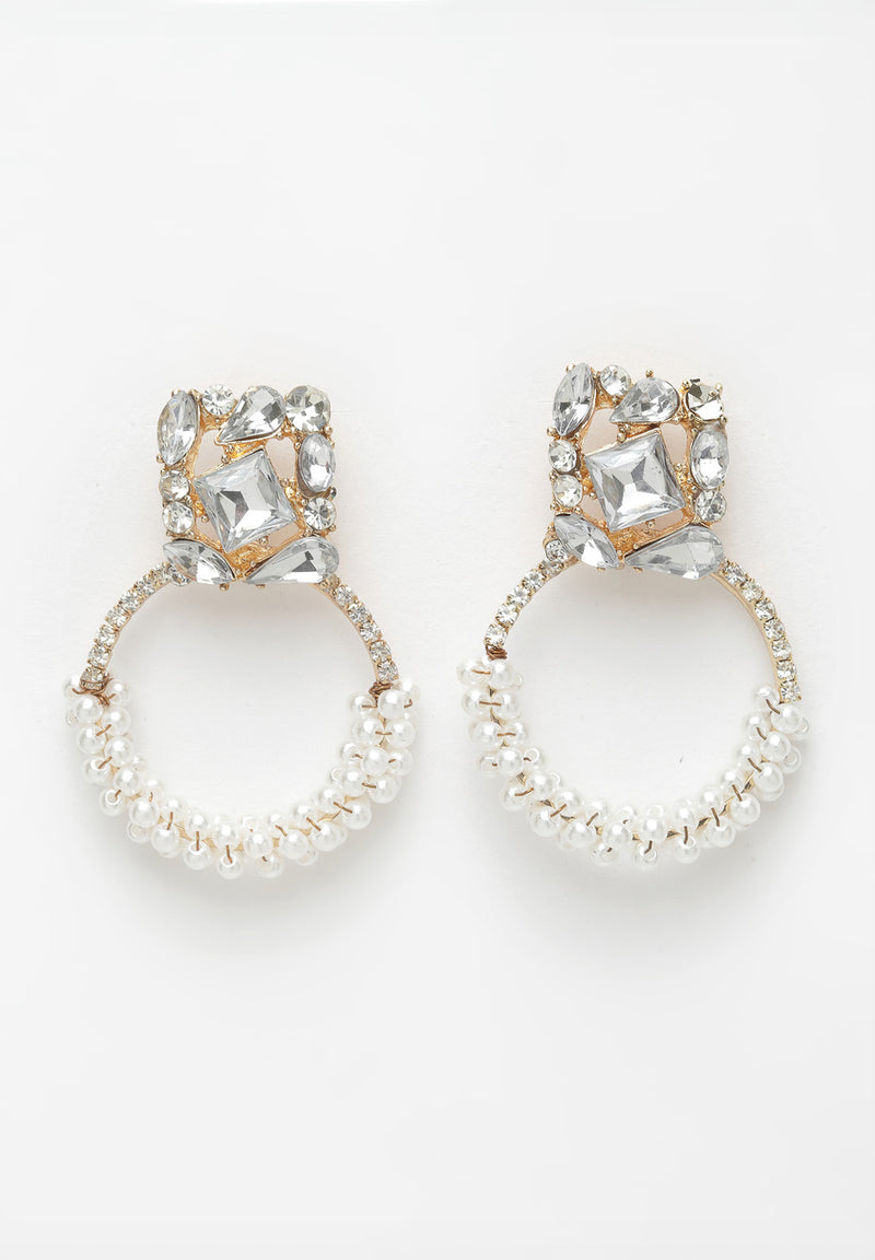 Avant-Garde Paris White Round Pearl Earrings