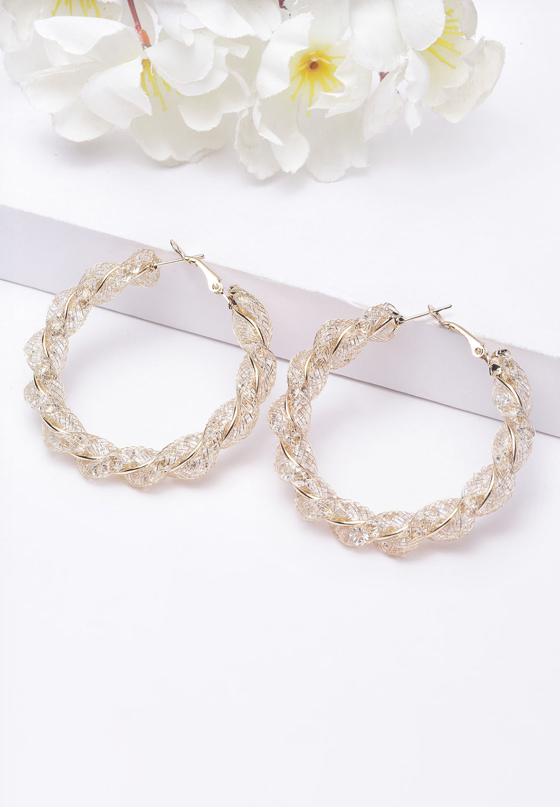 Avant-Garde Paris Yelloe Round Beaded Hoop Earrings