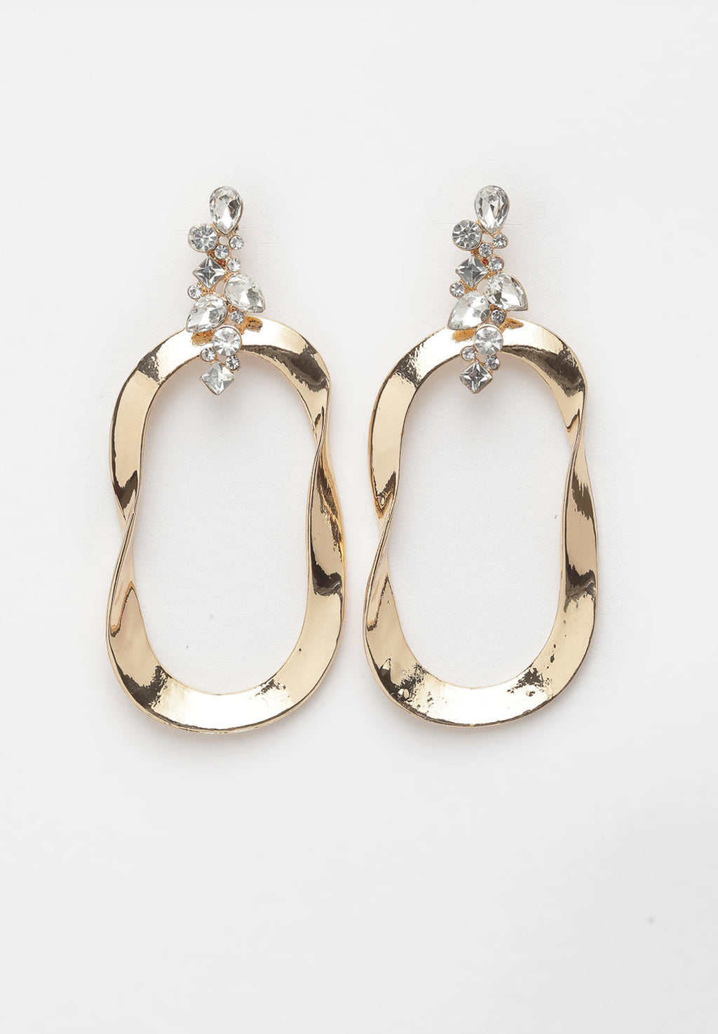 Avant-Garde Paris Metallic Gold Geometric Hoop Earrings
