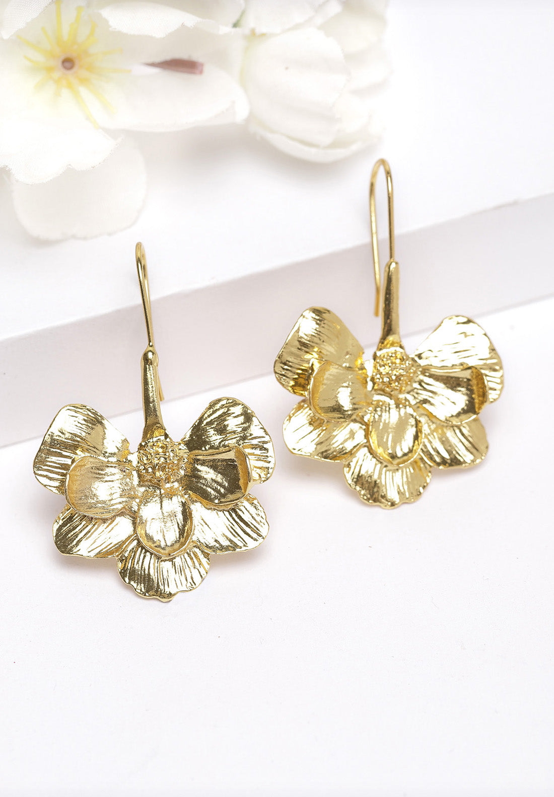 Avant-Garde Paris Gold Floral  Earrings
