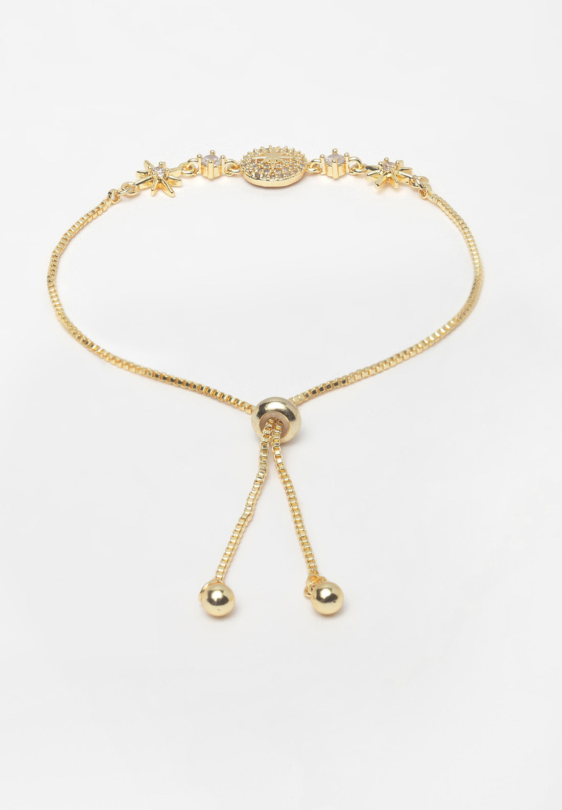 Avant-Garde Paris Gold Plated Crystal Bracelet