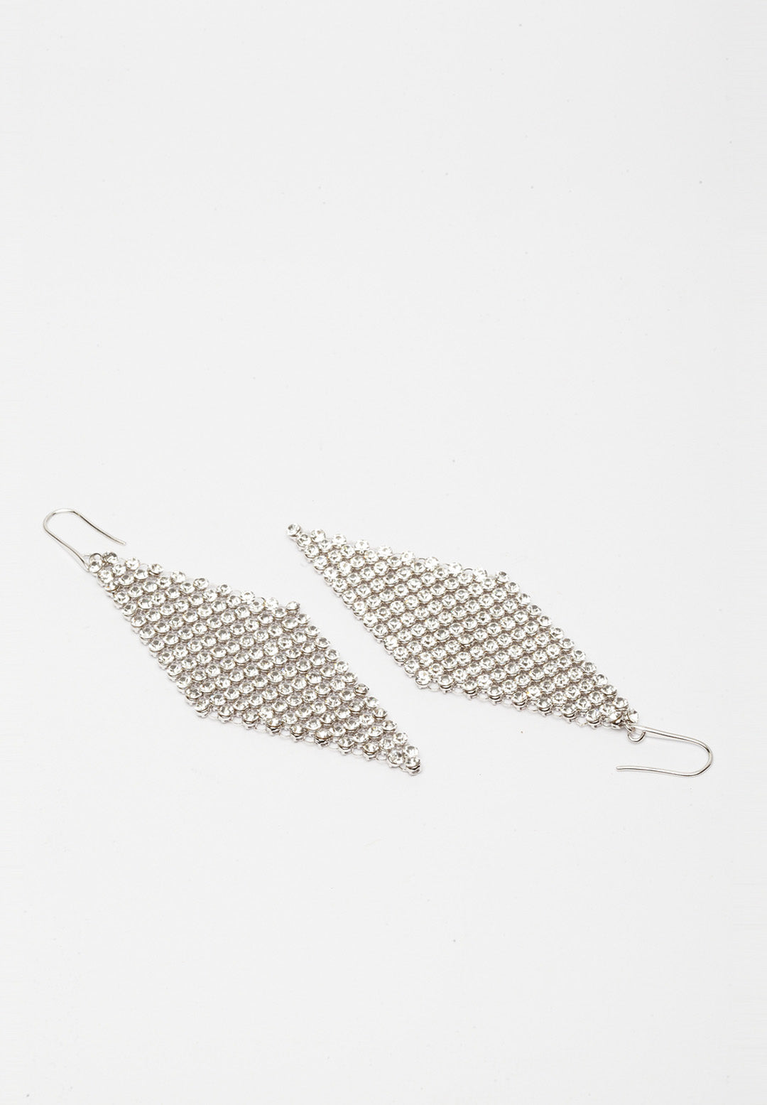 Avant-Garde Paris Crystallized With Swarovski Crystals Mesh Long Earrings