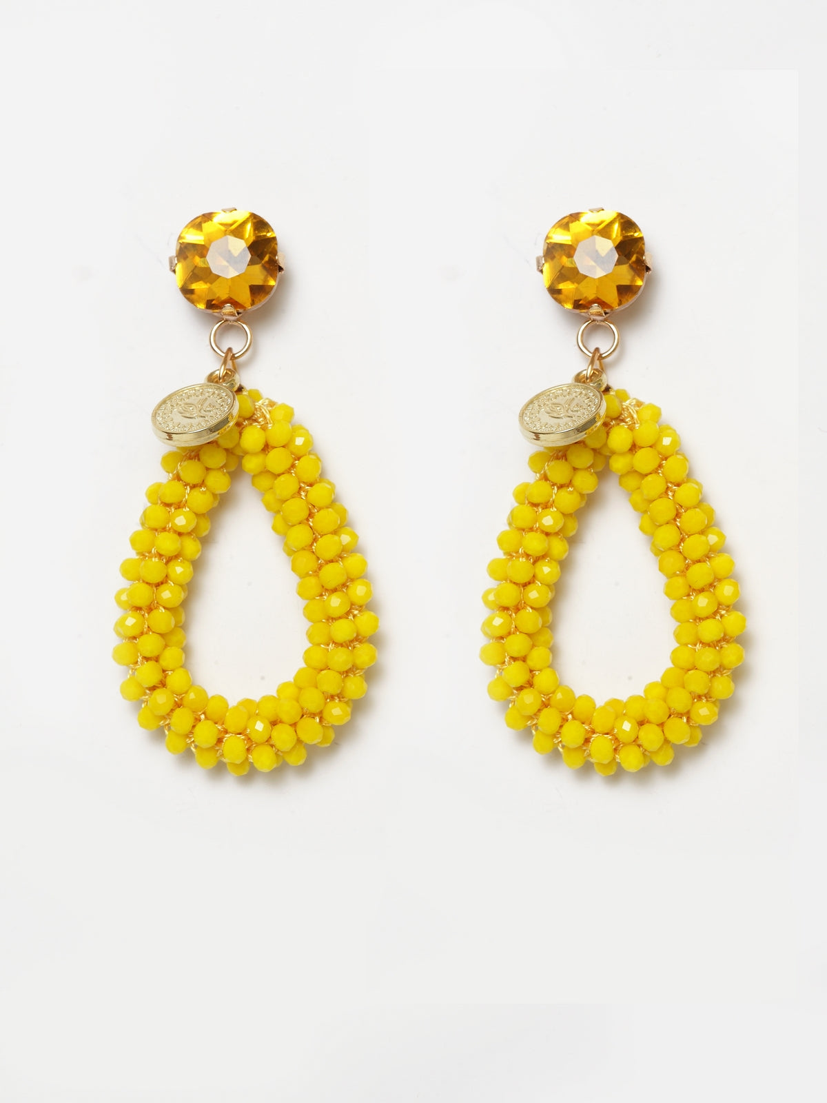 Avant-Garde Paris Acrylic Drop Bead Earrings
