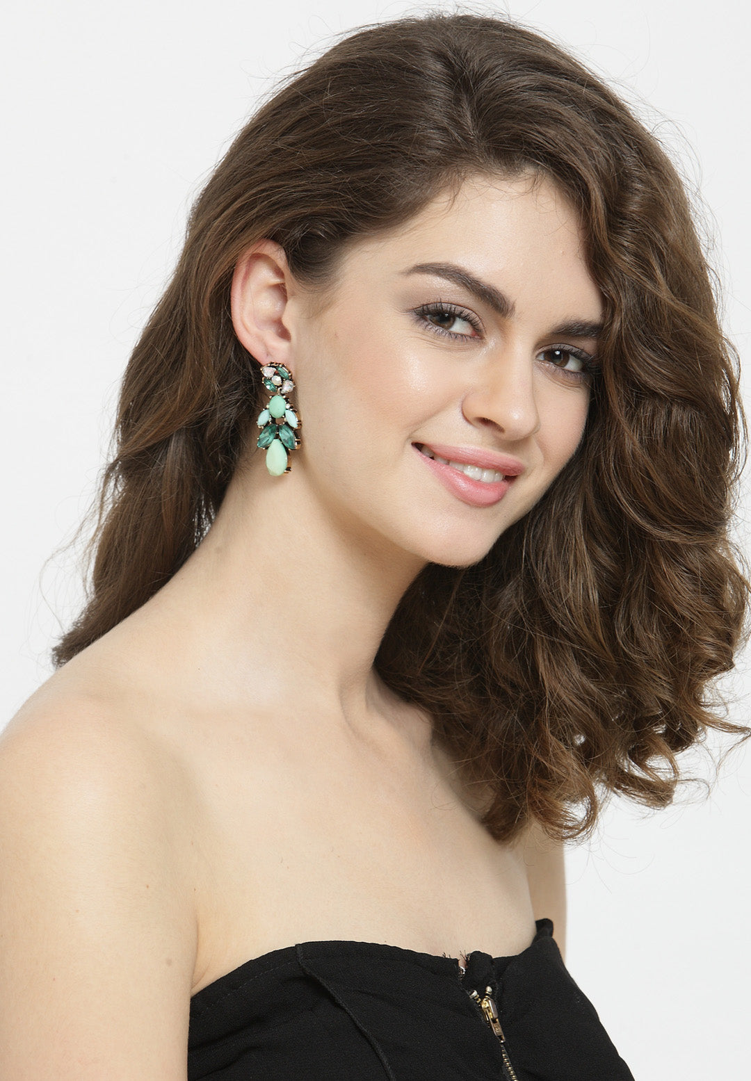 Avant-Garde Paris Statement Crystal Drop Earrings