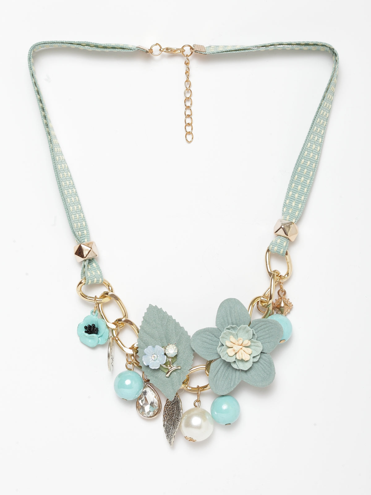 Avant-Garde Paris Floral Statement Choker Necklace