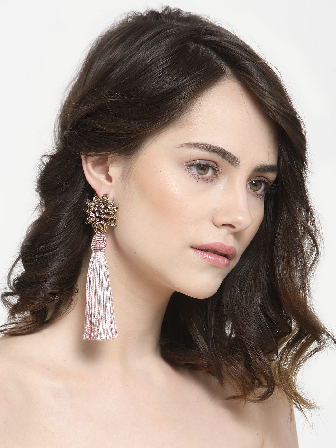 Avant-Garde Paris Floral Tassel Long Earrings