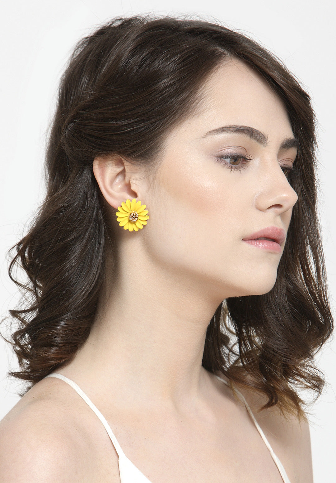 Avant-Garde Paris Flower Stud Earrings